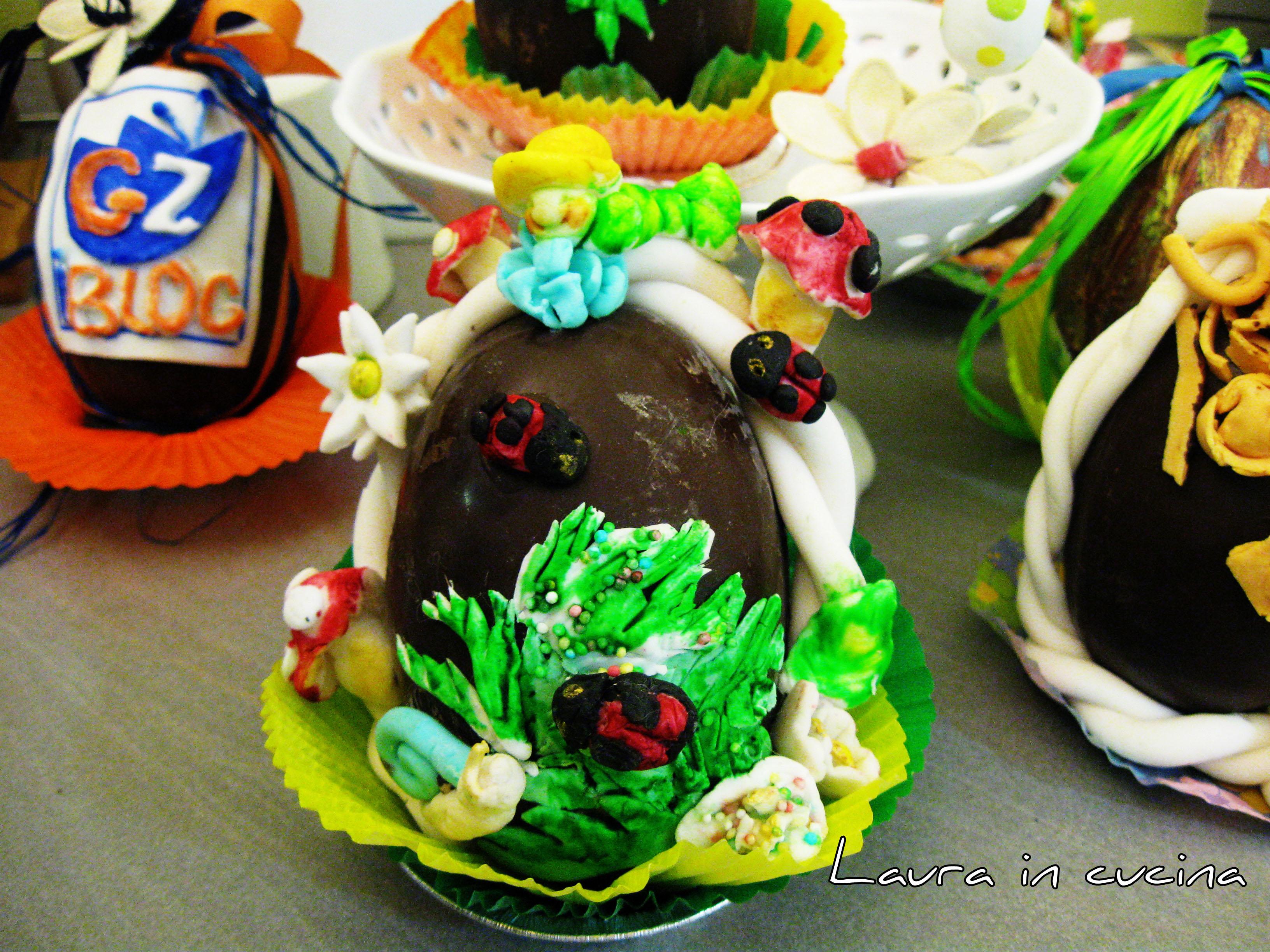 Uova di cioccolato decorate ricetta fai da te laura in - Uova di pasqua decorate ...