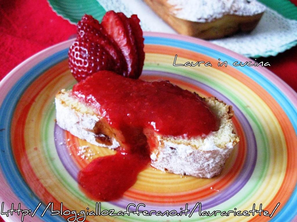 Torta soffice al limone con fragole.ricetta dolci
