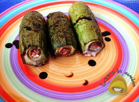 Zucchine ripiene di salsiccia,ricetta contorni