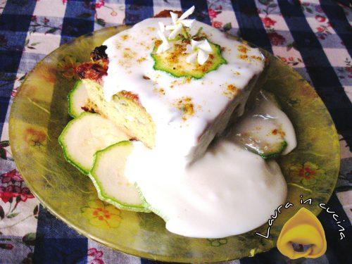 Flan di zucchine freddo con stracchino