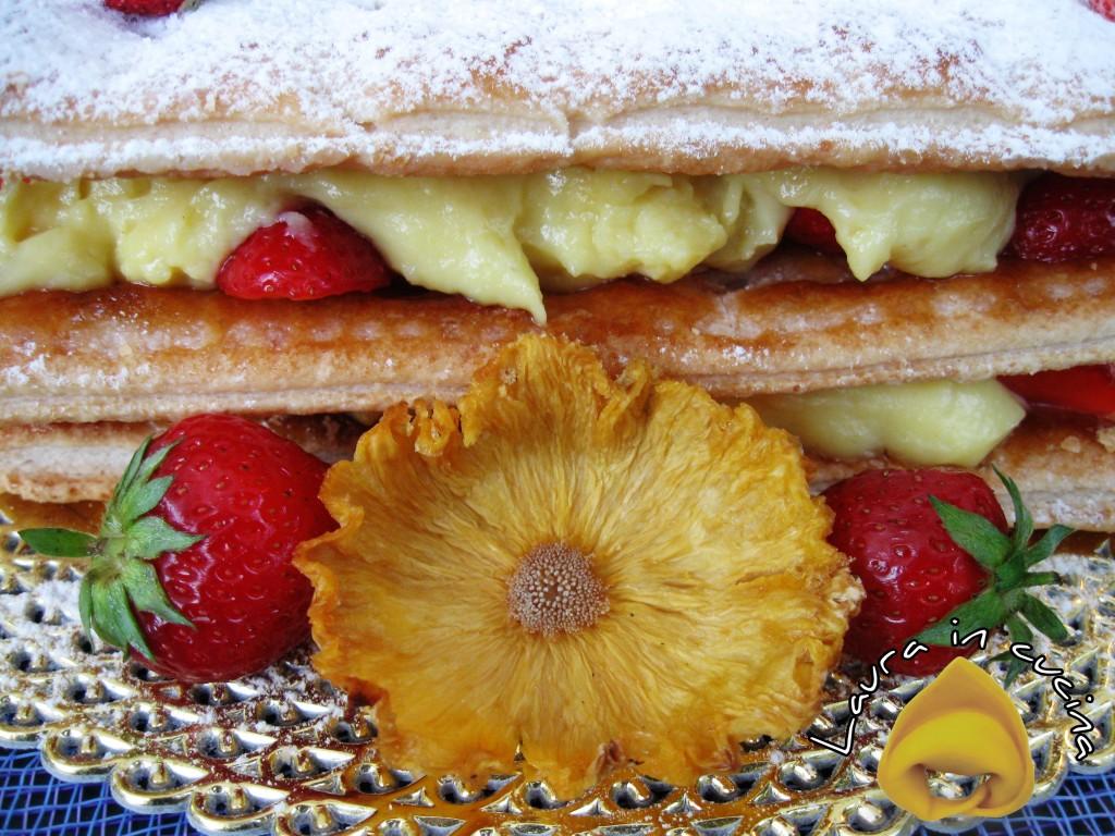 Millefoglie crema e fragole fresche,ricetta dolci
