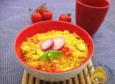 Cus cus con verdure e curry,ricetta primi piatti