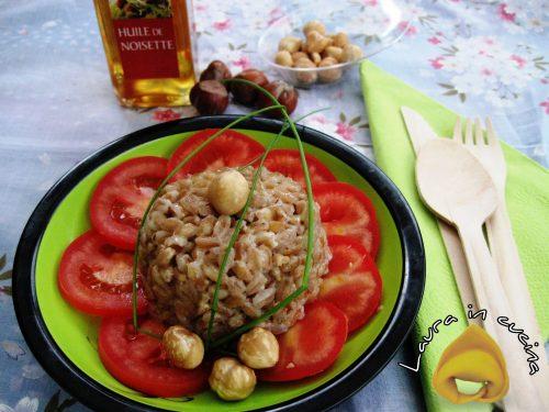 Farro con salsa di nocciole,ricetta primi piatti