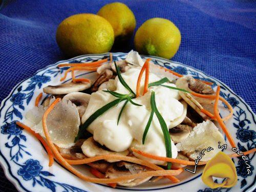Insalata di funghi ,ricetta contorni
