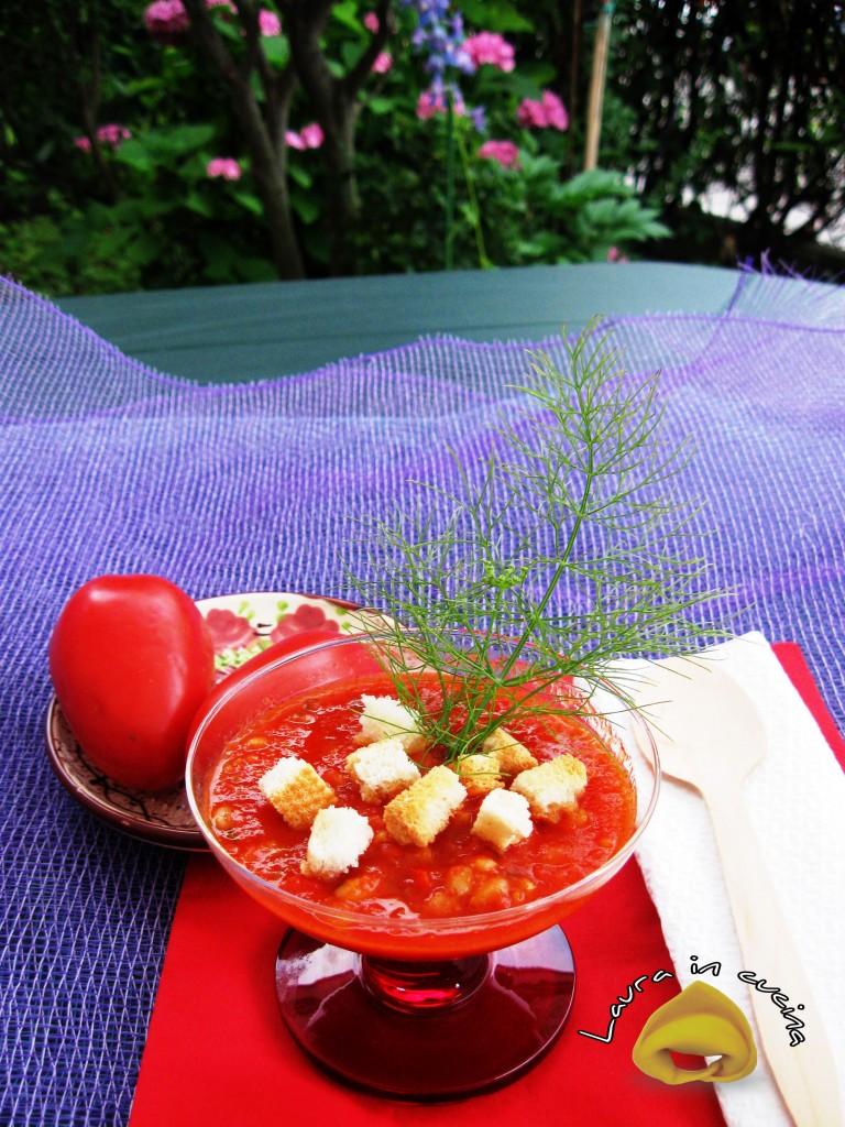 Gazpacho e farro,ricetta primi piatti