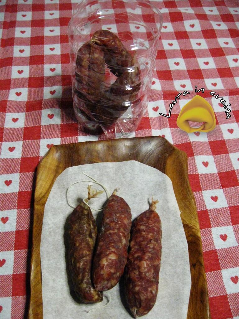 Salsicce secche come conservarle e sbucciarle