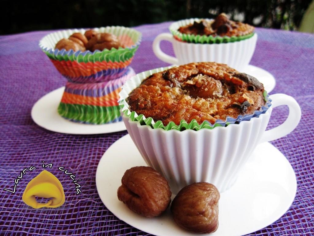 Muffin di riso,castagne e liquirizia ricetta dolci