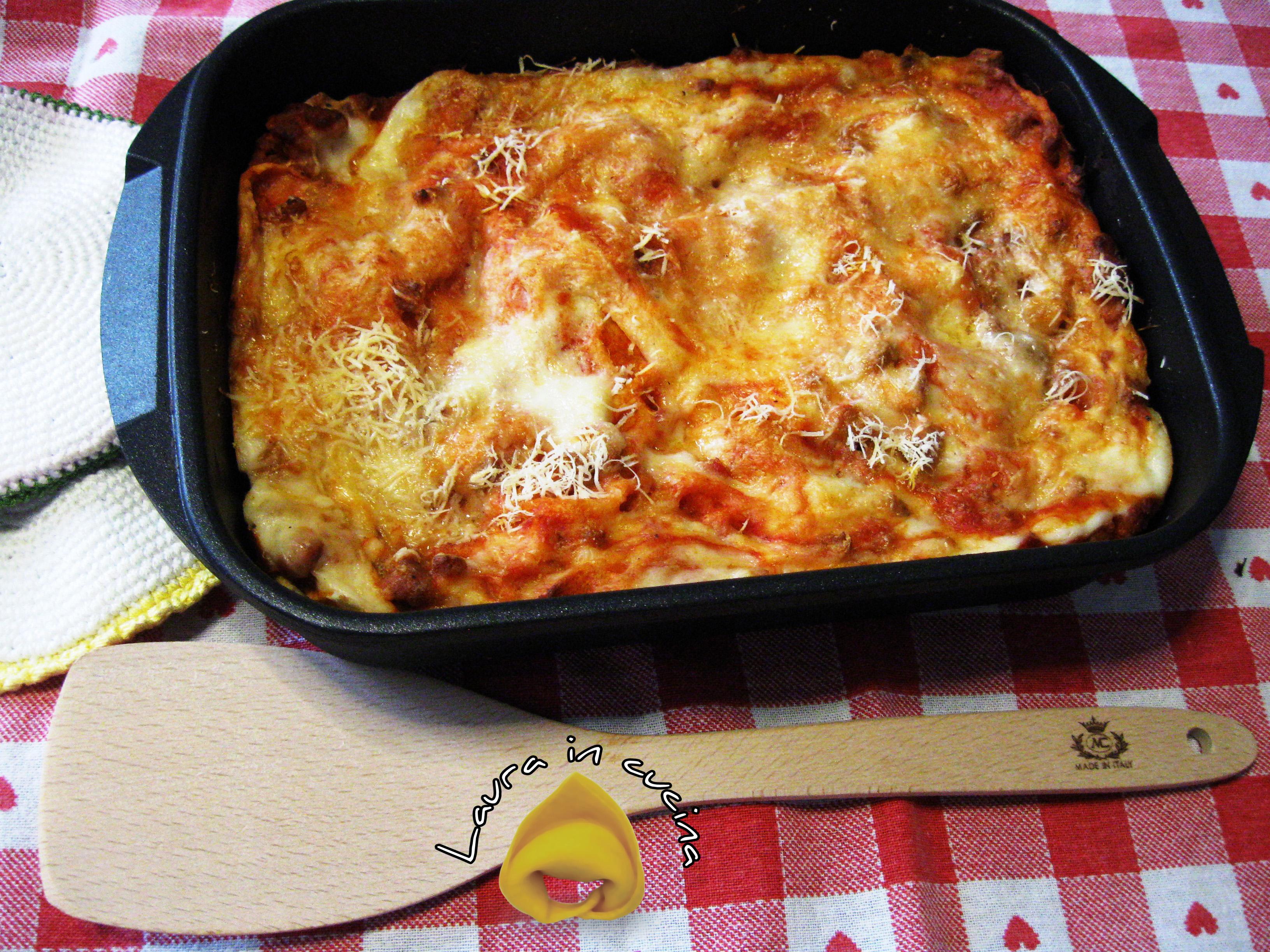 Lasagne velocissime ricetta primi piatti laura in cucina for Barilla ricette
