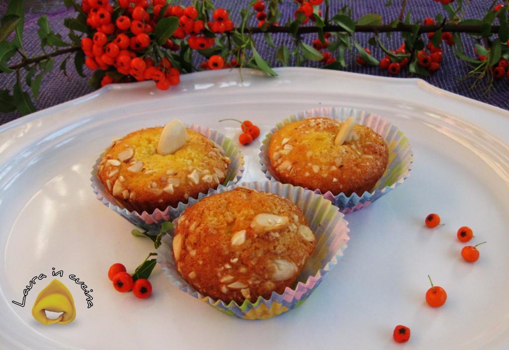 Muffins al kefir e mandorle,ricetta dolci