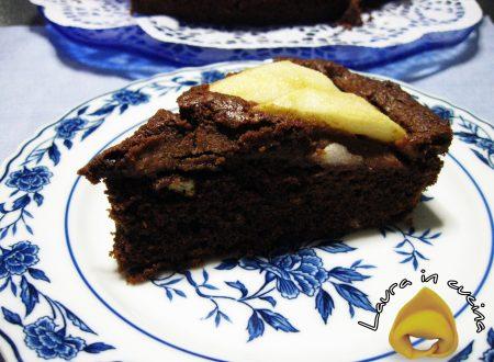 Torta al cioccolato con pere,ricetta dolci