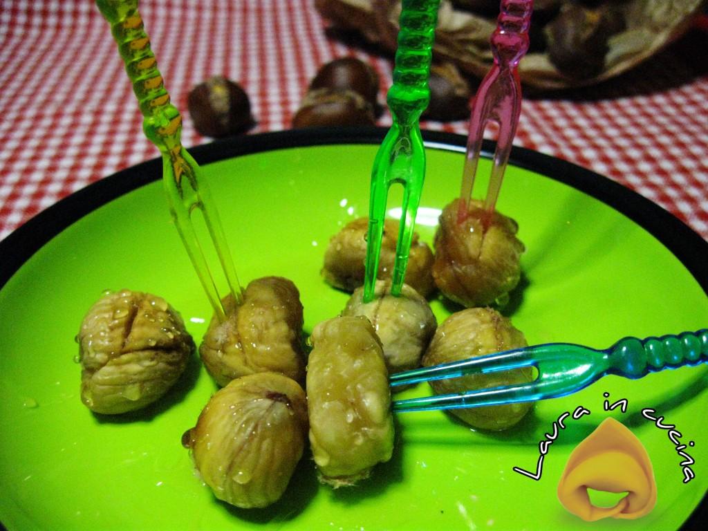 Castagne al forno,ricetta frutta