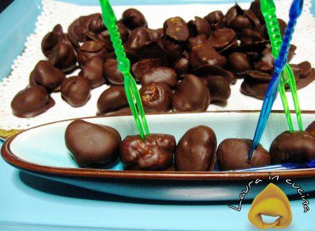 Marroni ricoperti di cioccolato,ricetta dolci