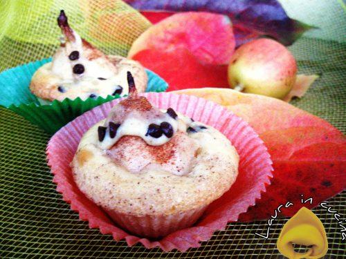 Muffins con pere ,ricetta dolci