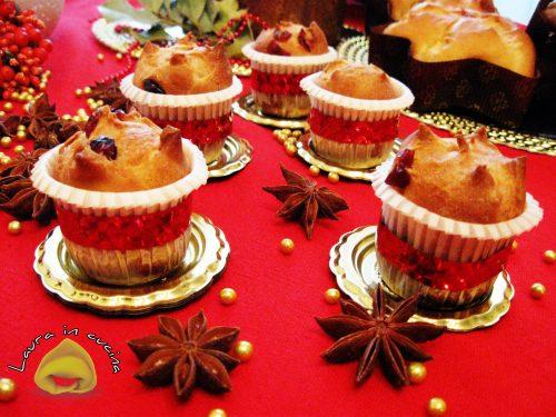 Panettone  ai mirtilli e mandorle,ricetta dolci