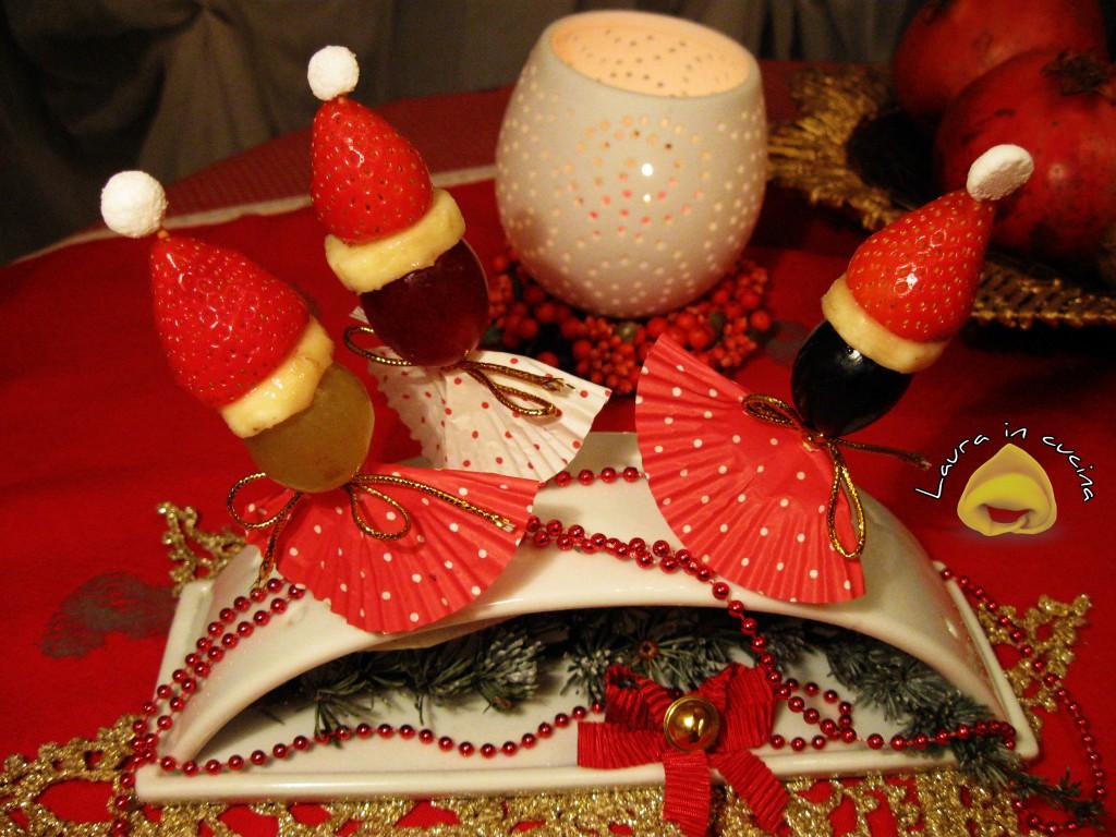 Lollipops natalizi con la frutta