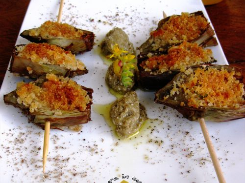 Carciofi gratinati ricetta contorni