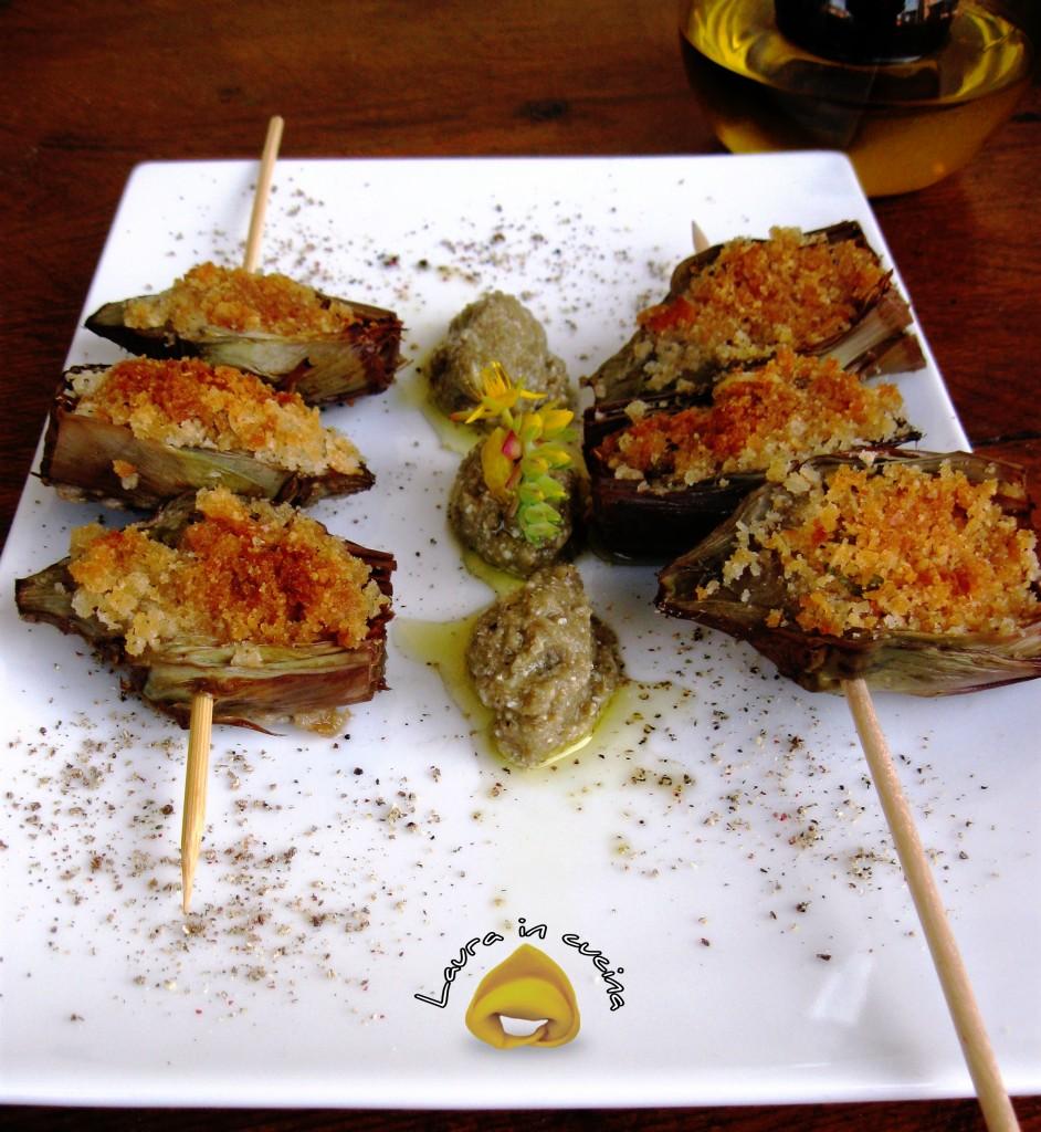 carciofi  gratinati ricetta