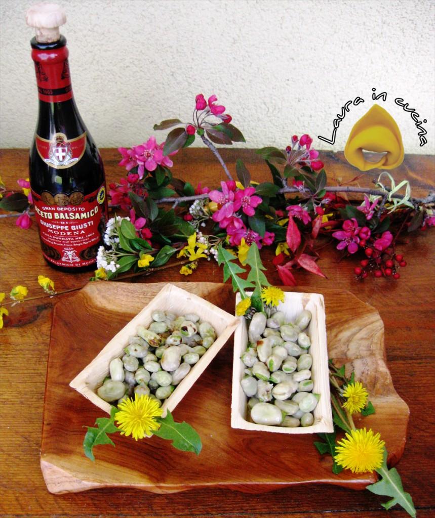 Fave fresche e tarassaco con aceto balsamico ricetta contorni
