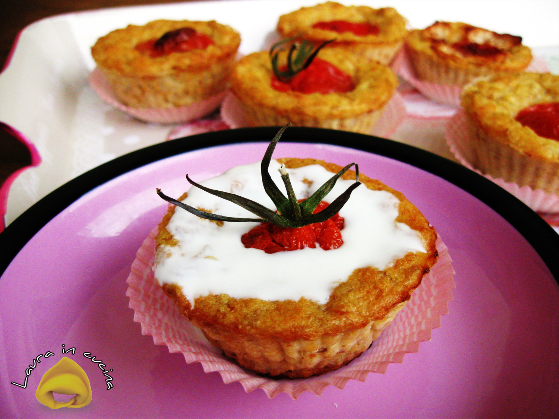 Muffin d'avena con pomodorini ricetta antipasti