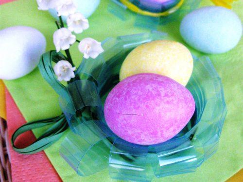 Decorazioni semplici per Pasqua :i cestini