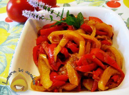 Peperonata alla menta ricetta contorni