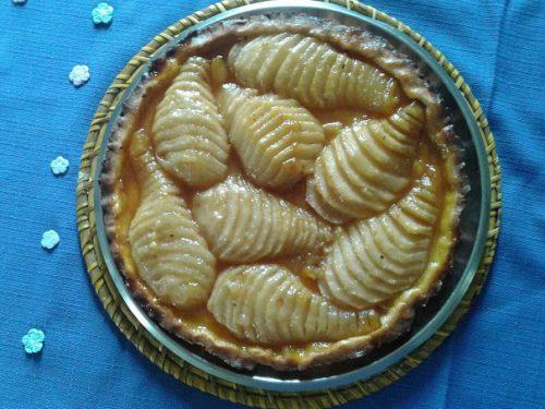 Crostata al caramello e pere ricetta dolci