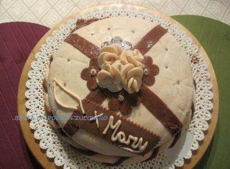 Torta decorata con MMF (Marshmallow Fondant)