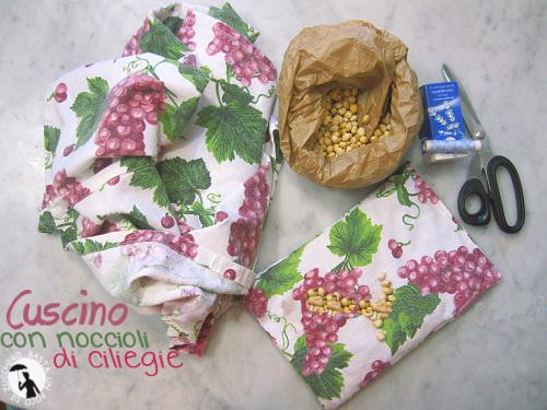 cuscino con noccioli di ciliegie - Cuscino Con Noccioli Di Ciliegia Come Fare