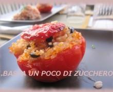 Pomodori ripieni di riso olive e mozzarella