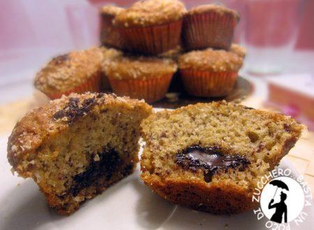Muffin banana e cocco con cuore fondente