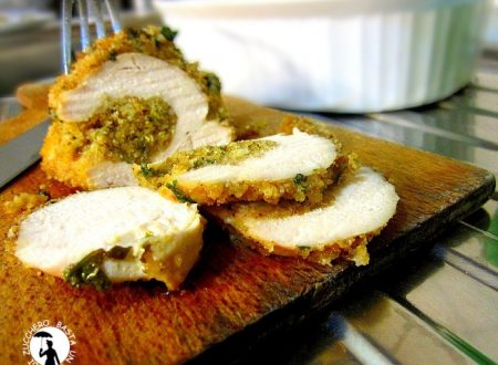 Petti di pollo farciti con parmigiano pangrattato e prezzemolo
