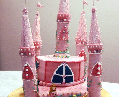 Torta di compleanno Castello delle principesse