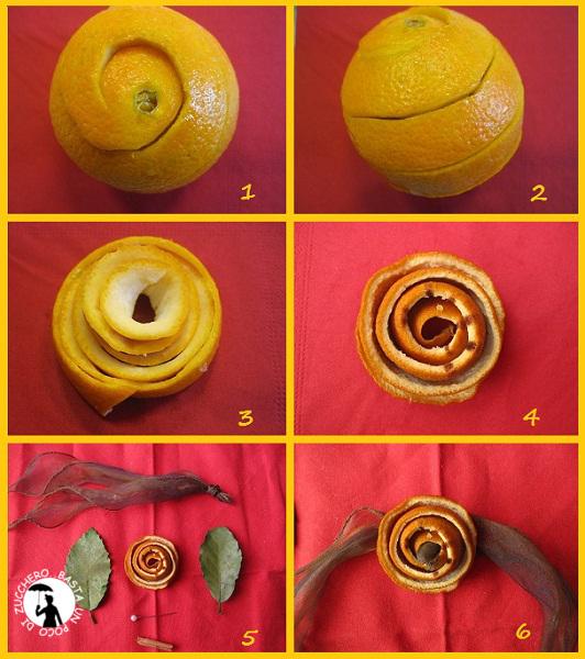 tutorial porta tovagliolo arancia essiccata
