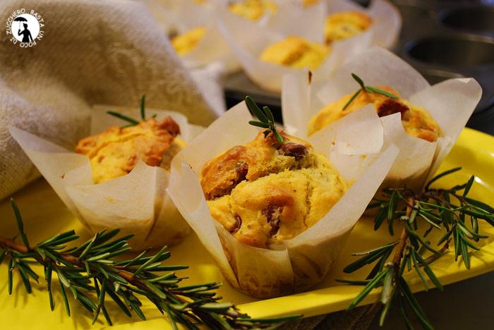 muffin piccanti al salame