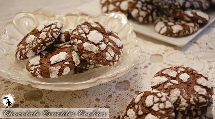 Biscotti al cioccolato - chocolate crackles cookies
