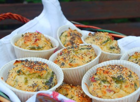 Muffin agli asparagi selvatici
