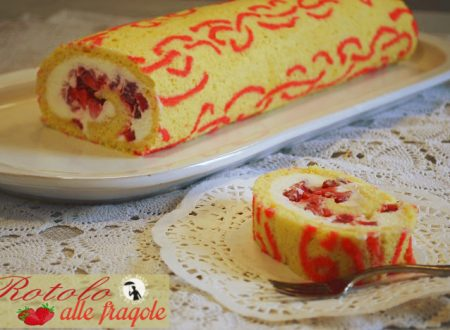 Rotolo alle fragole decorato
