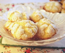 Biscottini morbidi al limone – lemon crackles cookies
