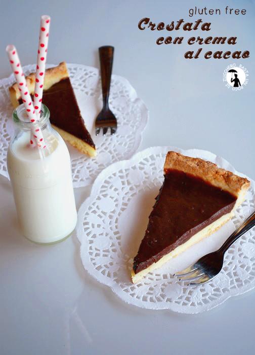 crostata con crema al cacao - ricetta senza glutine