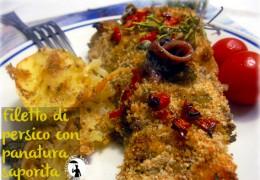 Filetto di persico al forno con panatura saporita