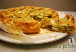 Torta di sfoglia con broccoli e patate
