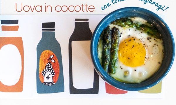 Uova in cocotte con asparagi e tomino