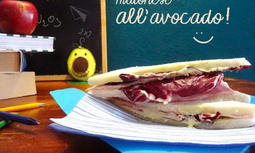 Tramezzini con maionese all'avocado