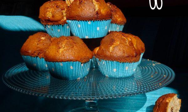 Muffin cioccolato pere e noci