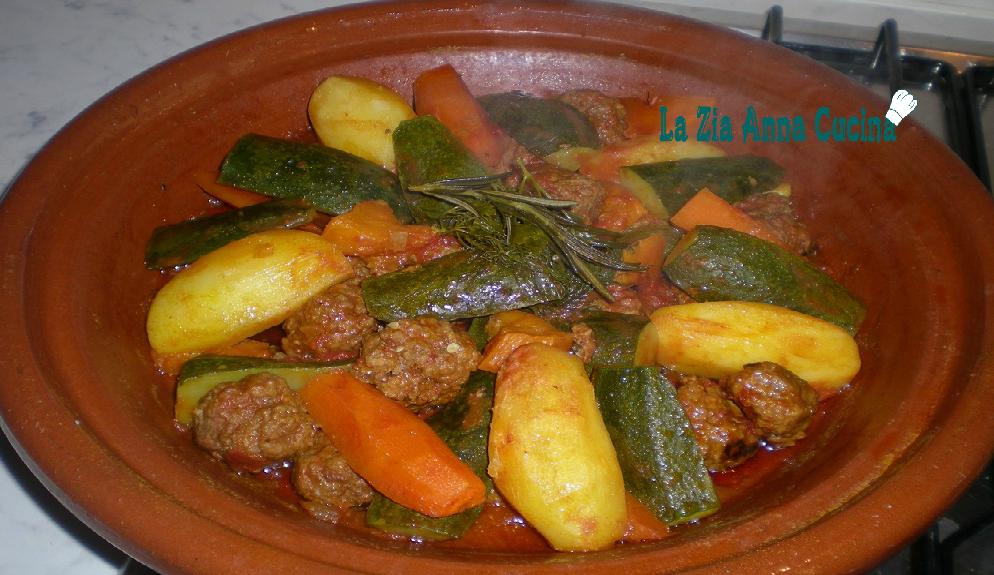 Spezie Marocchine Per Tajine.Tajine Di Polpette E Verdure La Zia Anna Cucina