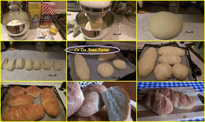 pane siciliano con il sesamo Collage