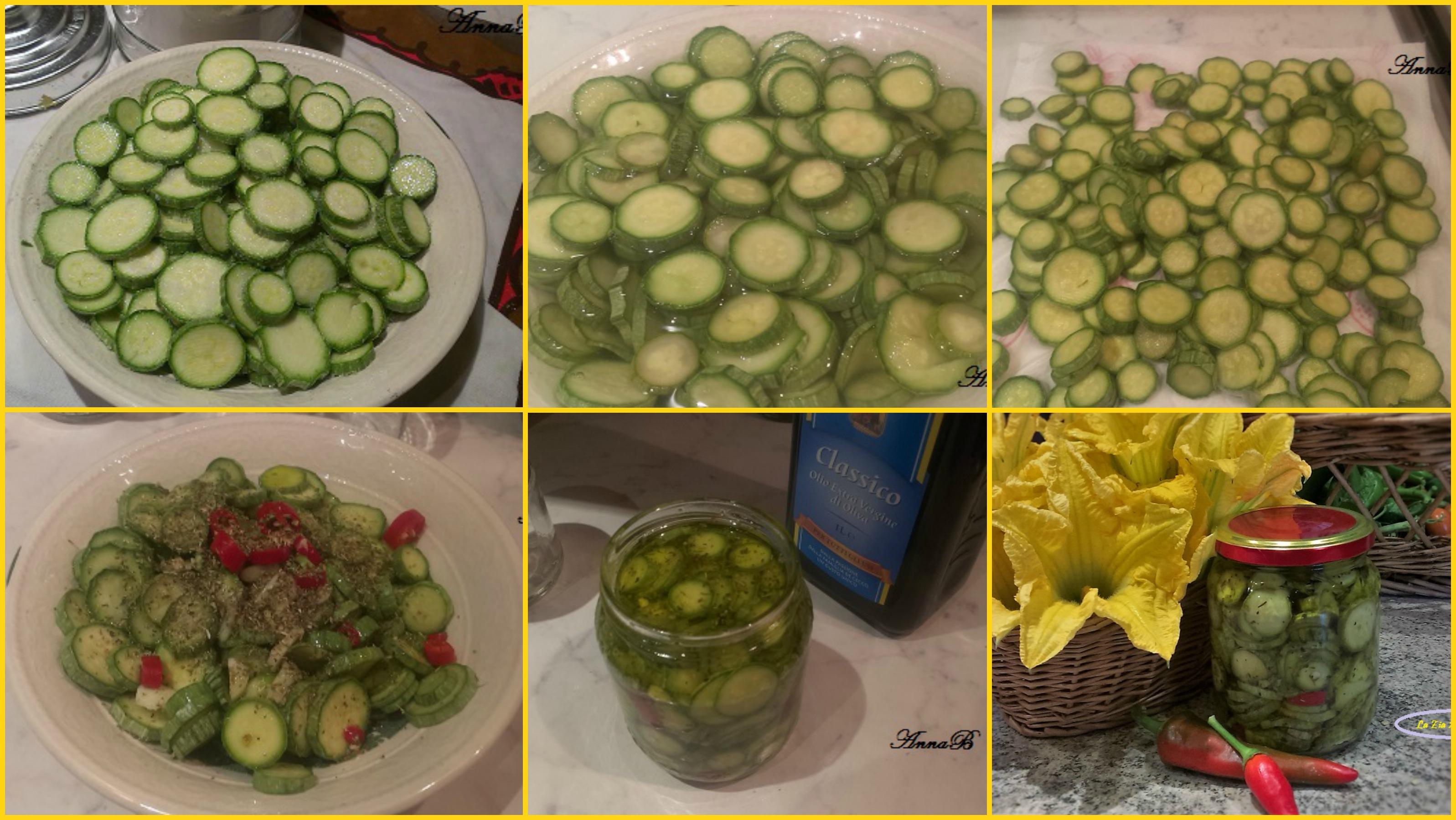 zucchine sott'olio Collage