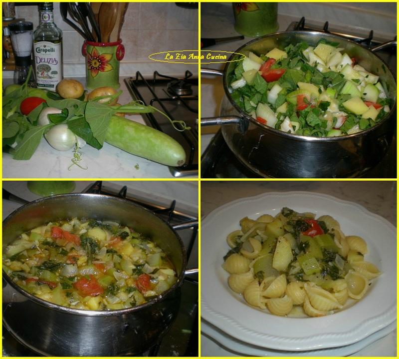 conchigie con zucchina lunga Collage