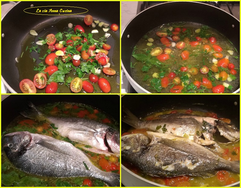 orata all'acqua pazza Collage