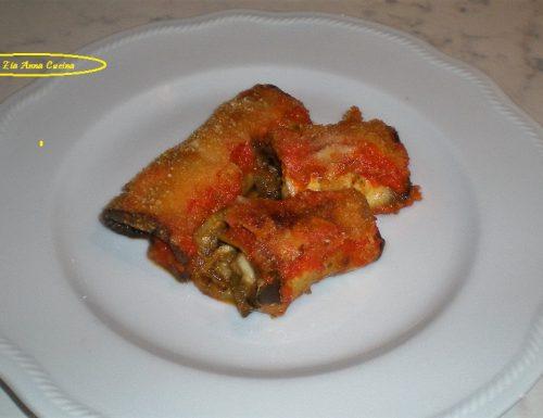 Involtini di melanzane grigliate alla parmigiana